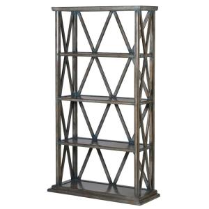 Contemporary Wooden Diamond Bookcase