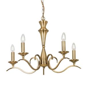 Kora 5 Pendant Light Antique Brass