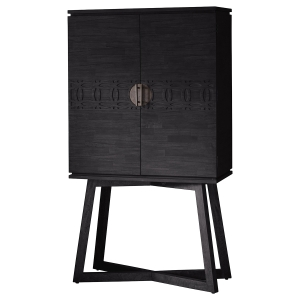 Manhattan Contemporary Charcoal Cocktail Cabinet