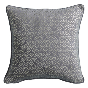 Metallic Printed Cushion Grey