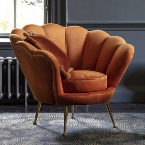 Rivello Burnt Orange Armchair