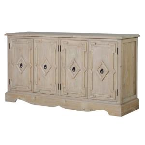 Lustre Natural Wood 4 Door Cabinet
