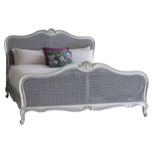 Alexandria Silver Leaf French Style Bed