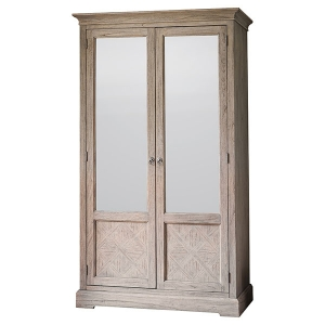 Camille Weathered French Double Wardrobe