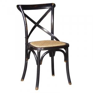 Vintage Black Cross Back Dining Chair