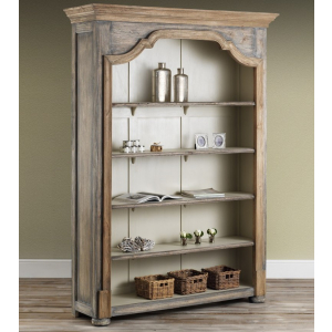 Dorset French Bookcase - Finished in Old Wood Pearl
