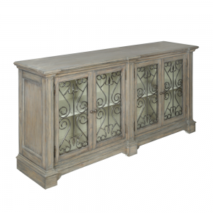 Dorset Metal Front Contemporary Large Sideboard - Finished in Old Wood Pearl