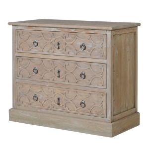 Lustre Natural Wood 3 Drawer Cabinet