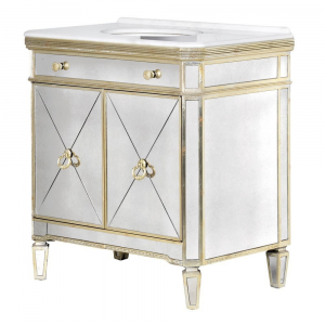 French Aged Vanity Cabinet