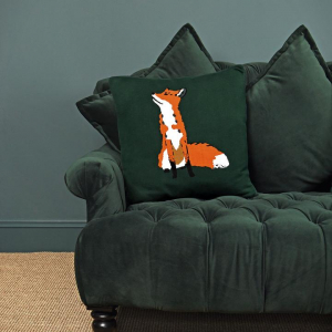 Fox Knitted Statement Cushion