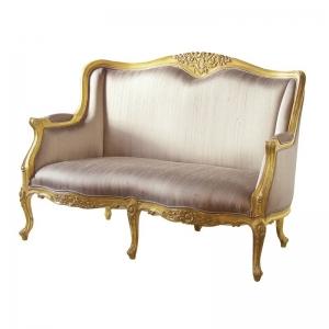 Gold Leaf French 2 Seat Sofa