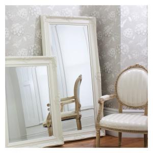 Harrow Cream Leaner Mirror French Style