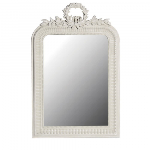 Loire Light Grey Leaves French Mirror