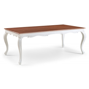 Louis French Extendable Dining Table / Finished in Chalk & Light Oak Ceruse frame
