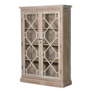 Lustre Natural Wood Glazed Display Cabinet