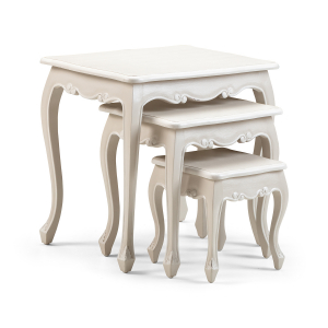 Lyon French Nest of 3 Tables / Smoke colour