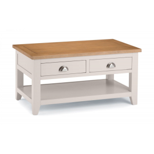 Malvern Coffee Table Carved Oak Top