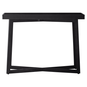 Manhattan Contemporary Charcoal Console Table