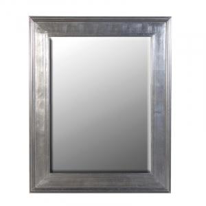 Medium Silver Rectangular Mirror French Style