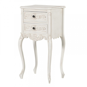 Antique White Provencale French Rococo Nightstands