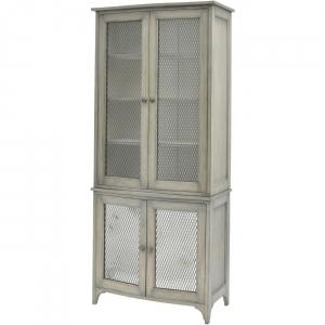 Regal Mindi Wood Display Cabinet
