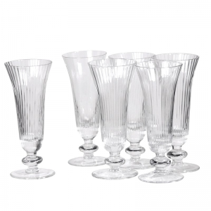Ribbed Champagne Flutes