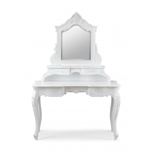 Rococo French White Dressing Table