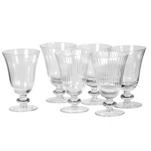 Set of 6 Ribbed Wine Glasses