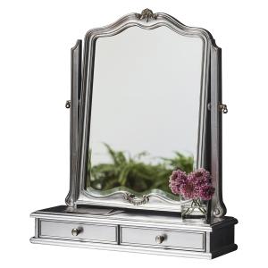 Alexandria Dressing Table Mirror Silver Leaf