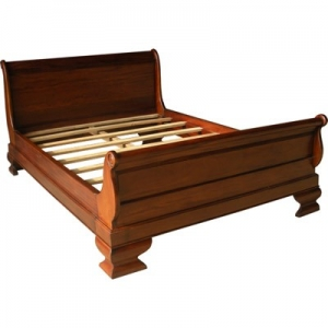 French Sleigh Bed with Low Footboard