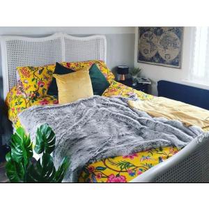Sophia Painted Louis XV Rattan Bed