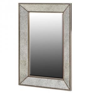 Square Champagne Wall Mirror