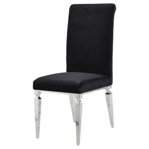 Venetian Black Velvet Dining Chair