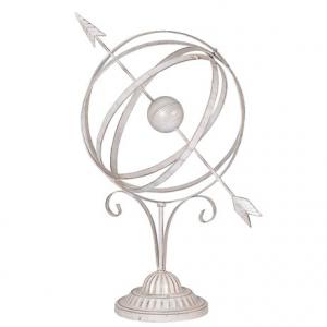 White Wash Armillary Sphere