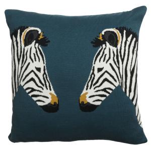 Zebra Knitted Statement Cushion