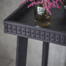 Manhattan Contemporary Charcoal Bedside Table