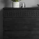 Manhattan Contemporary 4 Drawer Charcoal Chest