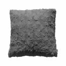 Stellan Fur Cushion Gunmetal Grey
