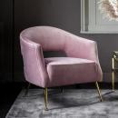 Barletta Rose Velvet Armchair
