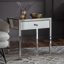 Cutler French Mirrored 1 Drawer Side Table