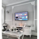 Beaulieu Antique White Painted French TV Cabinet