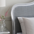 Alexandria Silver Leaf French Style Bed - Headboard