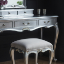 Alexandria French Silver Leaf Dressing Table Details