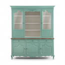 Alsace French Style Display Cabinet - Turquoise