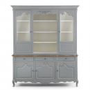 Alsace French Style Glazed Display Cabinet - Grey
