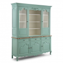 Alsace Distressed Turquoise Large Glazed Display