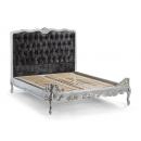 Amilie Silver French Upholstered Bed - additional base view