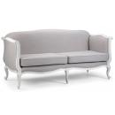 Vintage Linen Sofa with Antique Aged Frame