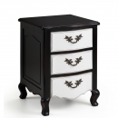 Augustus French Shabby Chic 3 Drawer Bedside Table