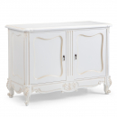 Antique White French Carved 2 Door Sideboard